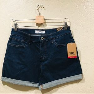 Vans Denim cuffed shorts blue jean retro stretch